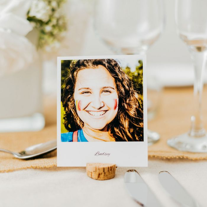 Personalised Place Setting Photo Cards