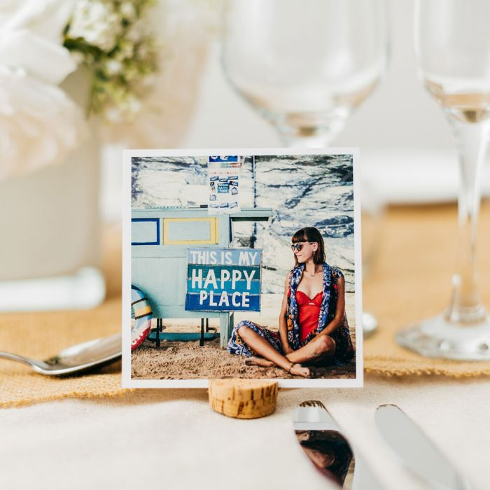 Square Place Setting Photo Cards