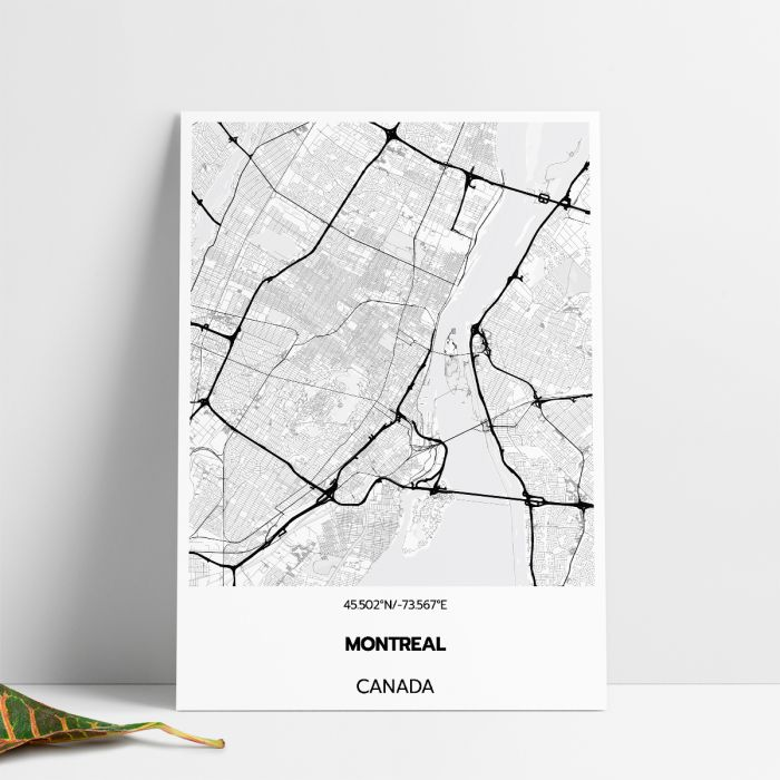 picture about Printable Map of Montreal identify Montreal Map Print