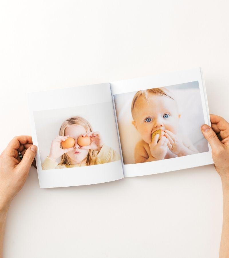 Personalised baby photo album