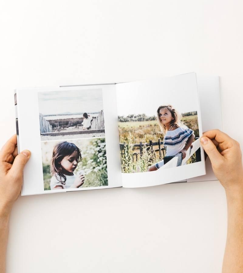 Hardcover family photo book