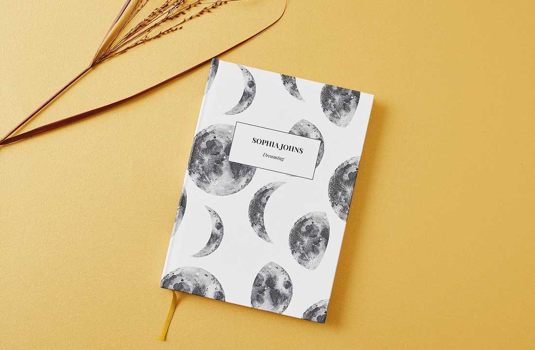 Moon Personalised Notebook
