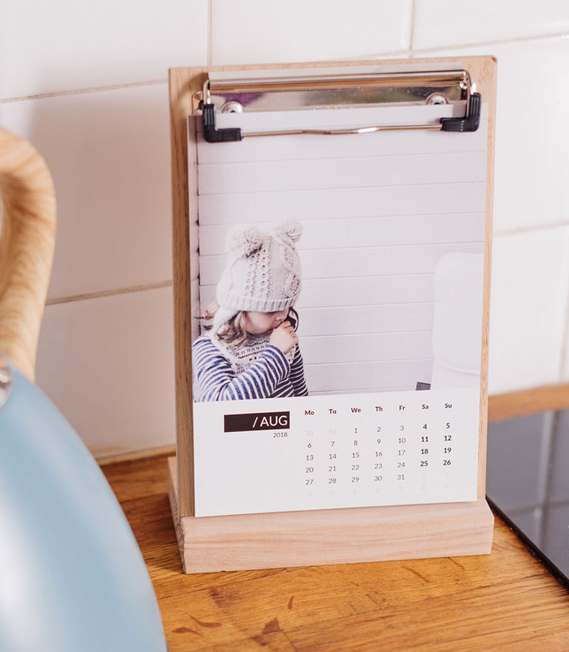 Mother's Day Gifts Wooden Photo Calendar