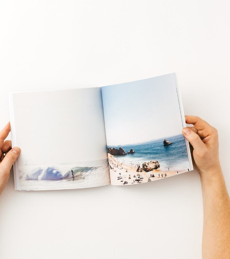 Personalised travel photo book