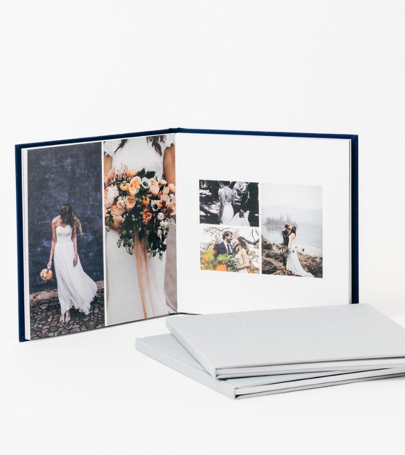 Personalised wedding photo albums