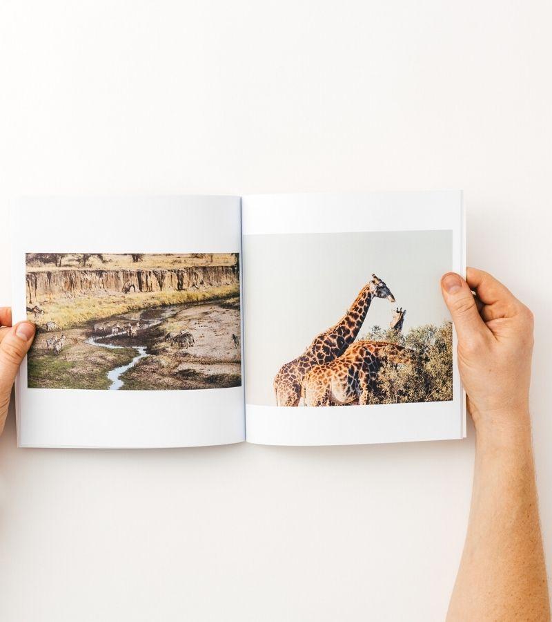Soft cover honeymoon photo book