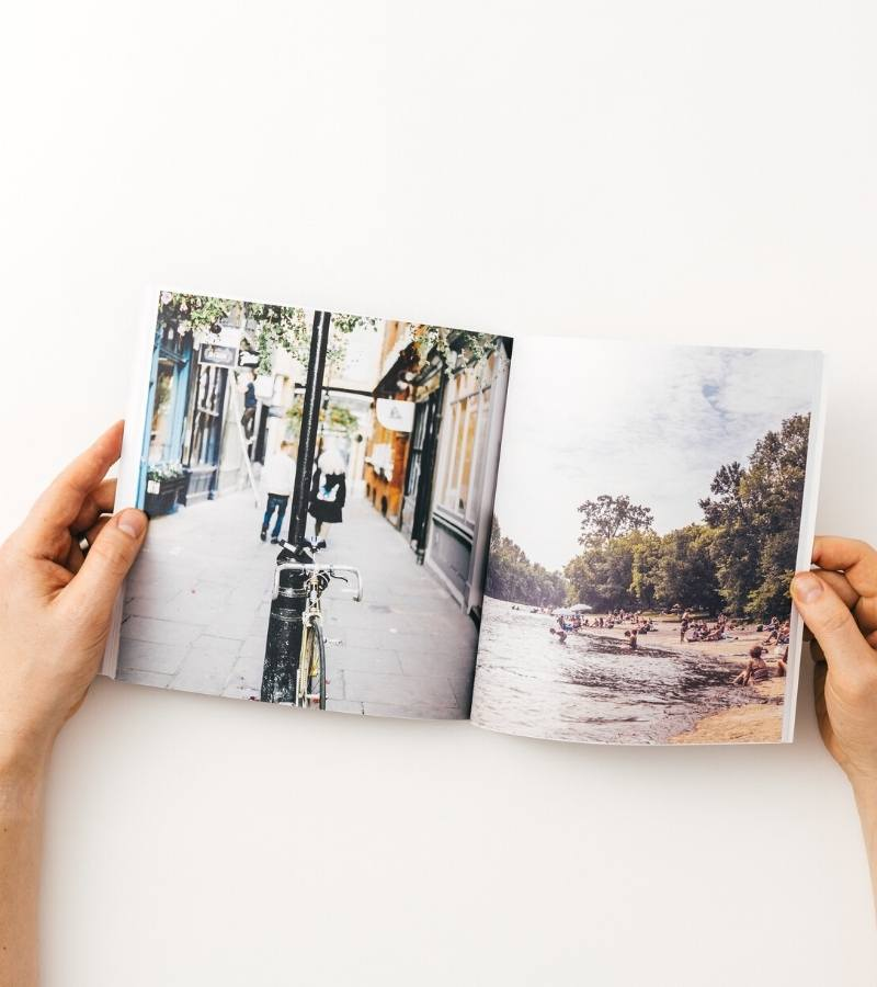 Softcover travel photo book