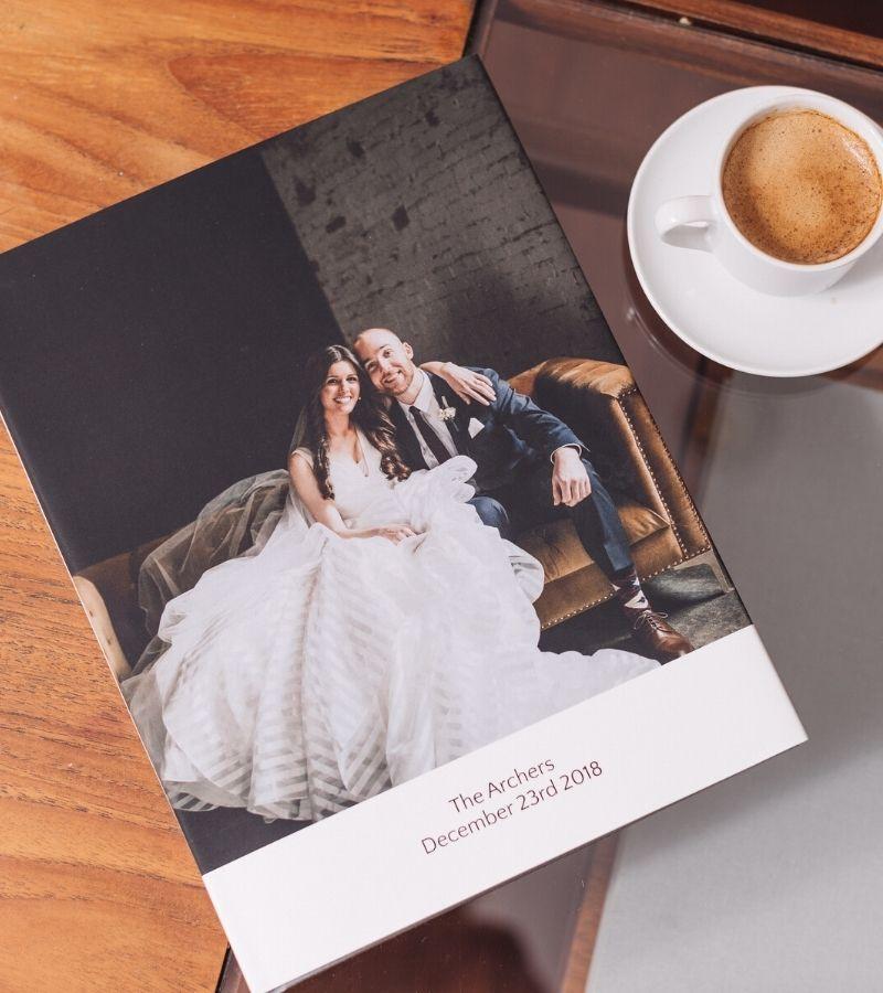 Traditional wedding photo albums